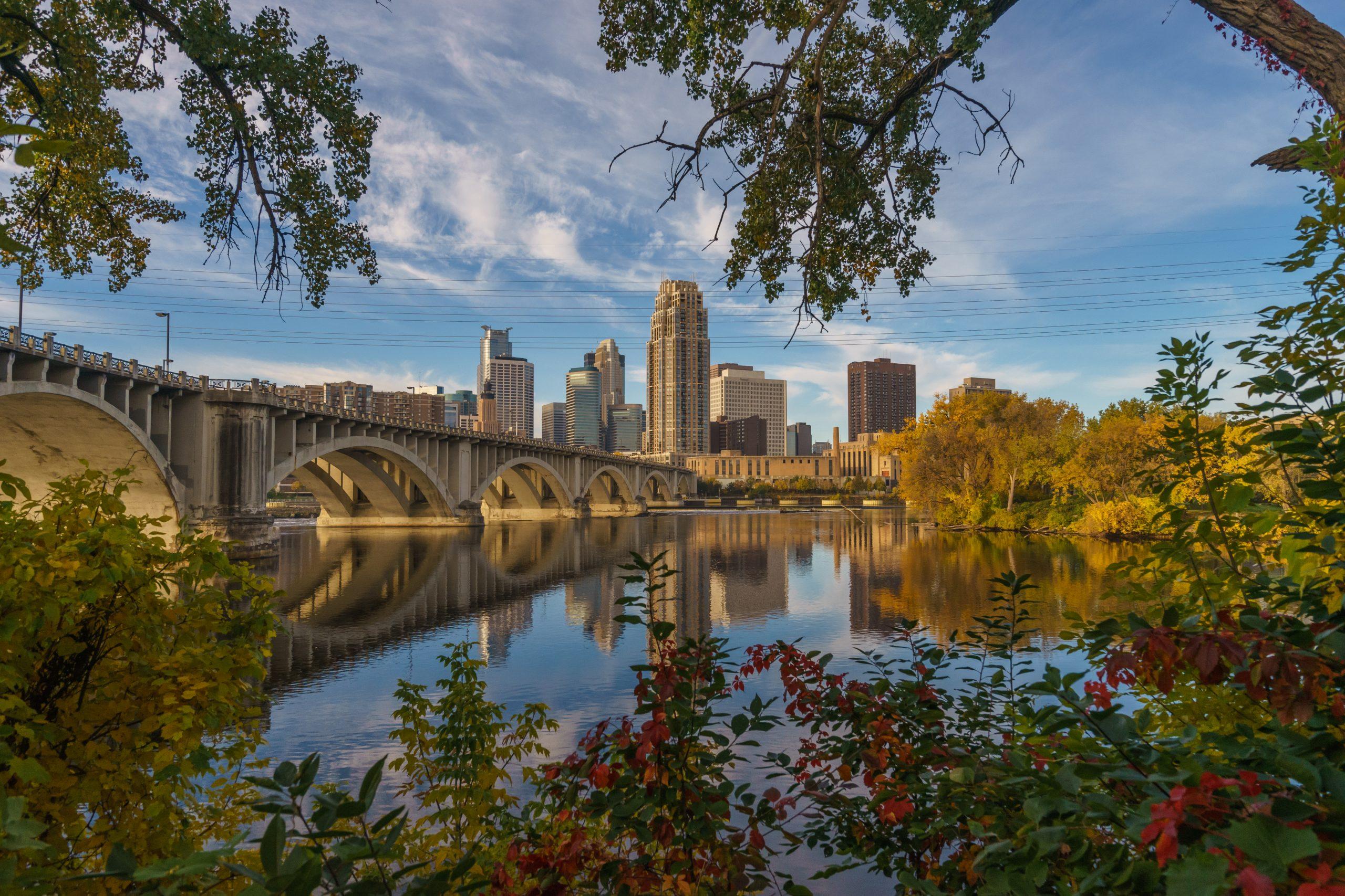 Fall in Minneapolis, Minnesota, USA.